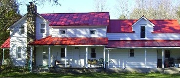 House, Standing Seam Metal Roofing, Metal Roofing Systems in  Upstate NY